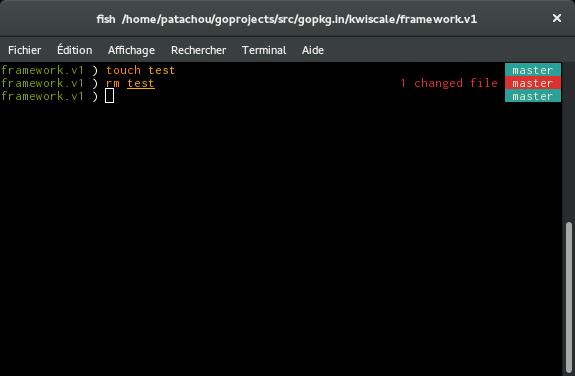 Fish dans un dossier Git